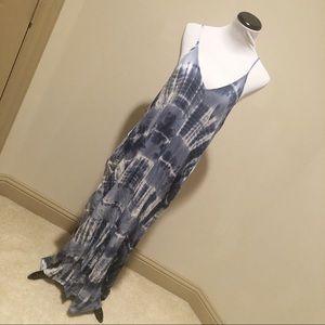 NWT Love Stitch Love back tie dye maxi dress